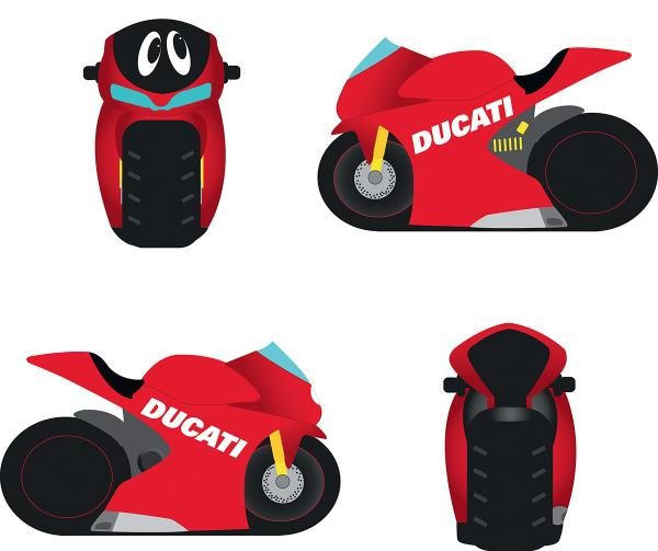 Ducati Cartoon Motorbike Money Box Ebay