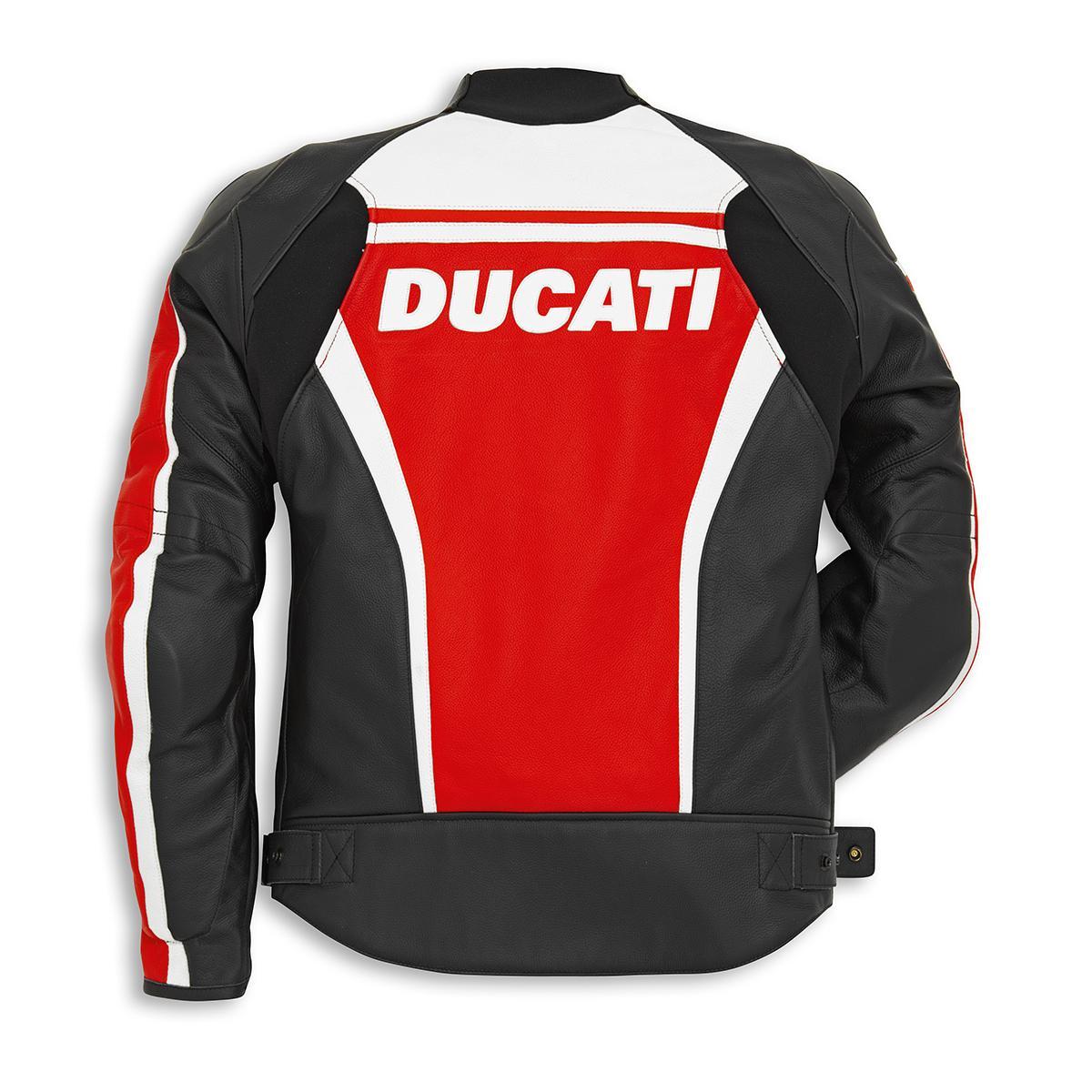 ducati sport c2 leather jacket red | ebay