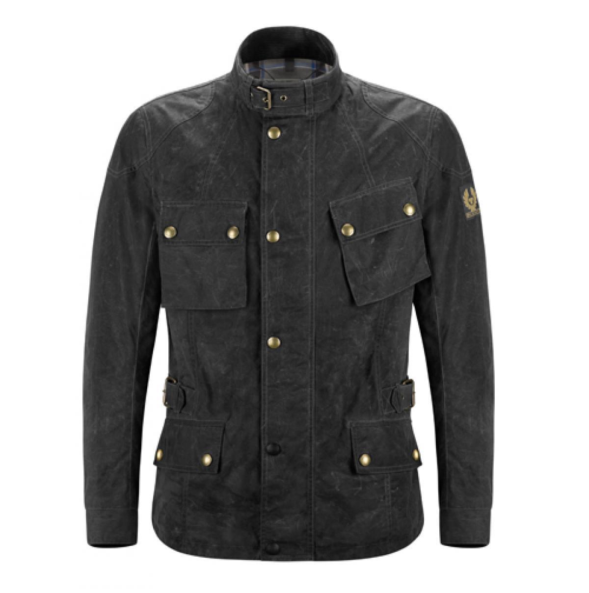 Belstaff Pure Motorcyle Crosby Soy Wax Jacket 2016 Black